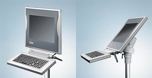 teclado embutido / com teclas mecânicas / sem dispositivo apontador / de membrana