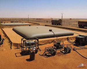 tanque de armazenamento de hidrocarboneto / de óleo / de combustível / em tecido