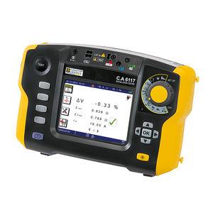 testador de instalação elétrica / de tensão / de sequência de fases / potência