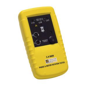 testador de sequência de fases / de instalação elétrica / de motor / digital
