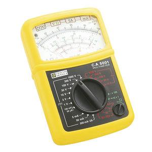 multímetro analógico / portátil / 600 V / 5 A