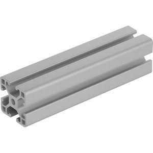 perfil em alumínio / ranhurado / retangular / leve