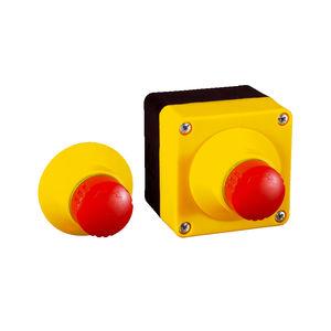 botão de comando de freio de emergência