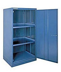 armário para oficina / com pés / com portas de bater / rack