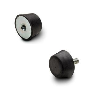 amortecedor de vibração / mecânico / em borracha / em aço inox