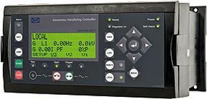 painel de controle para grupo gerador de energia