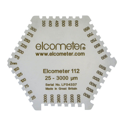 medidor de espessura de filme úmido tipo pente