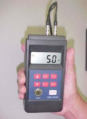 medidor de espessura com display digital