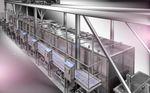 cozedor industrial para carne / a vapor / automático / de batelada