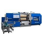 rebobinadeira-cortadeira longitudinal para fita adesiva